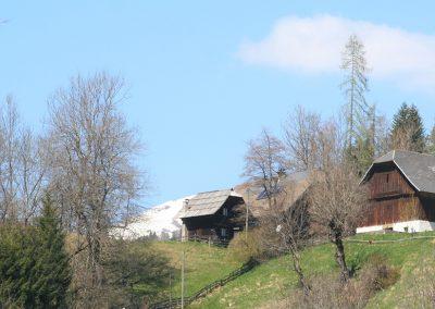 Egonhaus Blick zum Nachbarbauern
