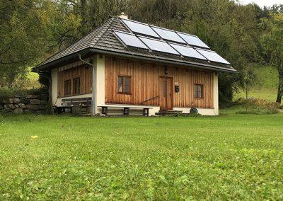 Egonhaus bei Regenwetter